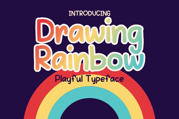 Drawing-Rainbow Font