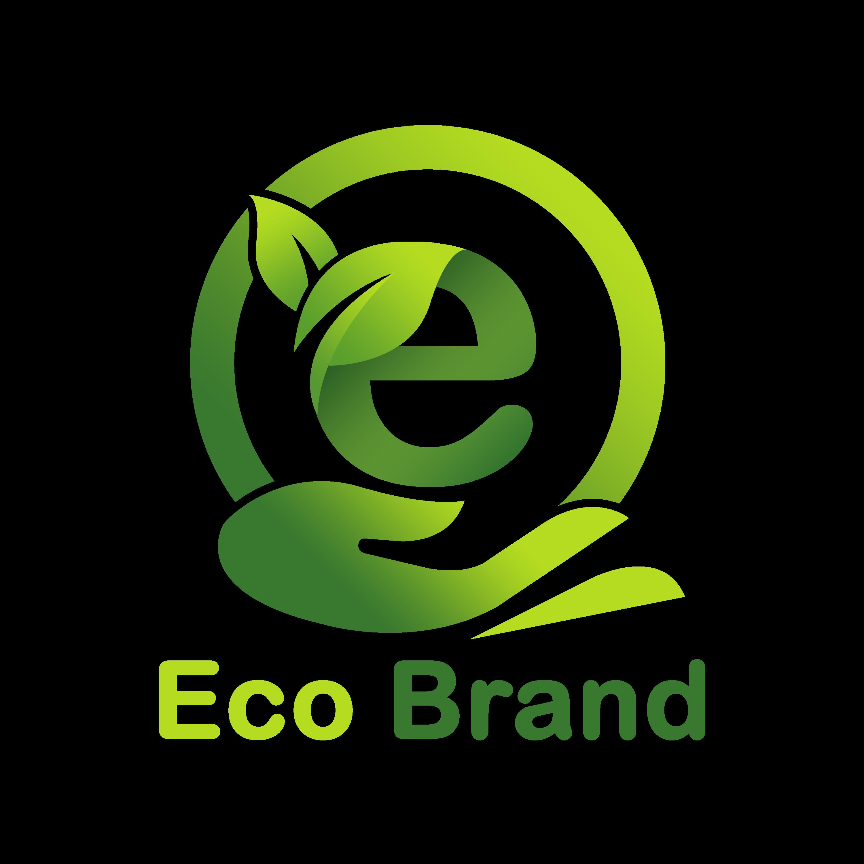 Eco Brand Logo Design PNG Transparent