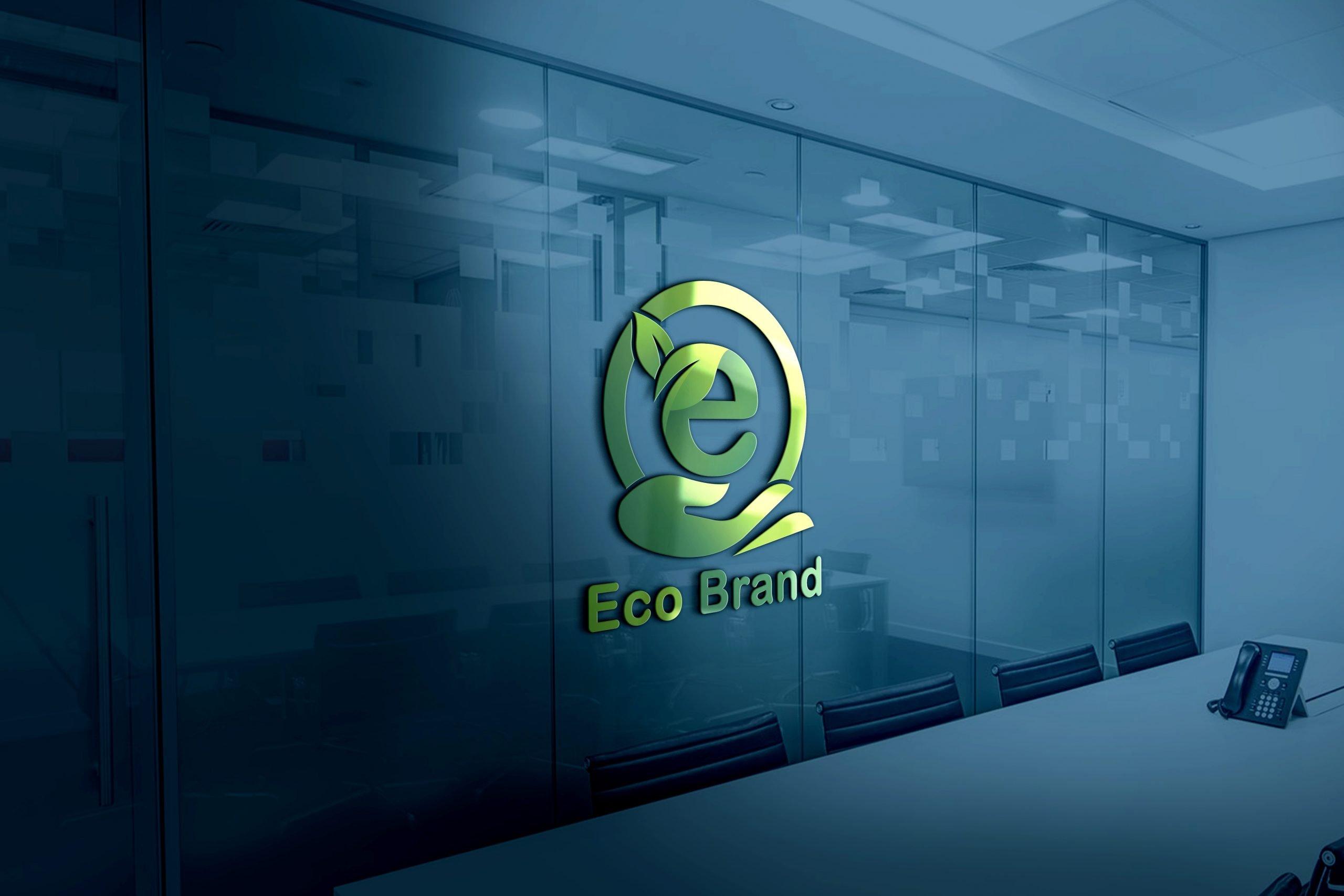 Eco Brand Logo Design PSD source