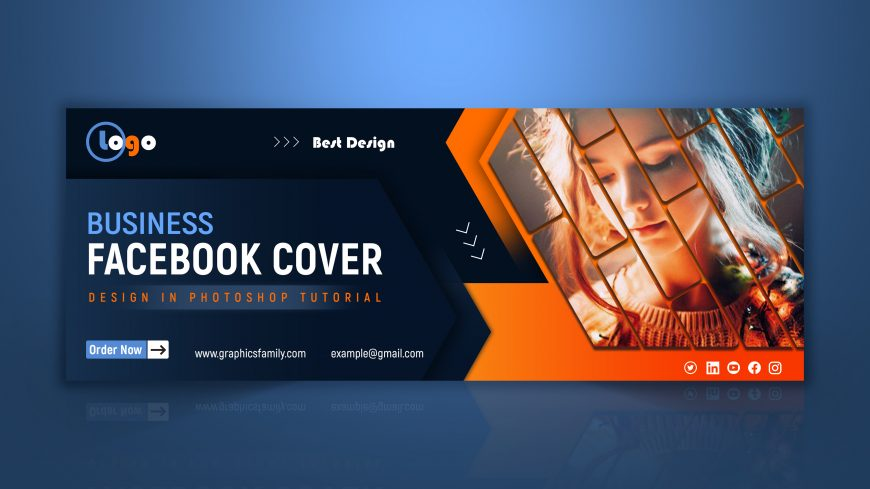 Editable Business Facebook Cover Design Template in Photoshop
