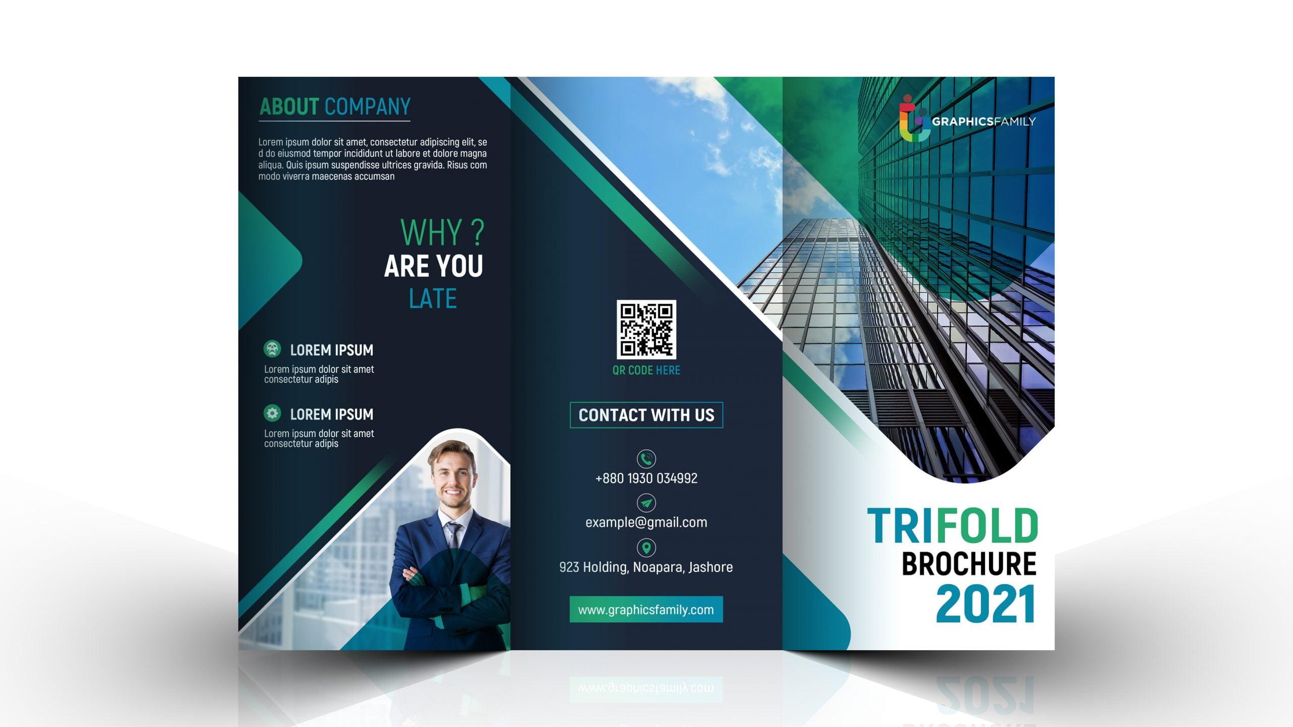 Editable Company Trifold Brochure Design Template Download