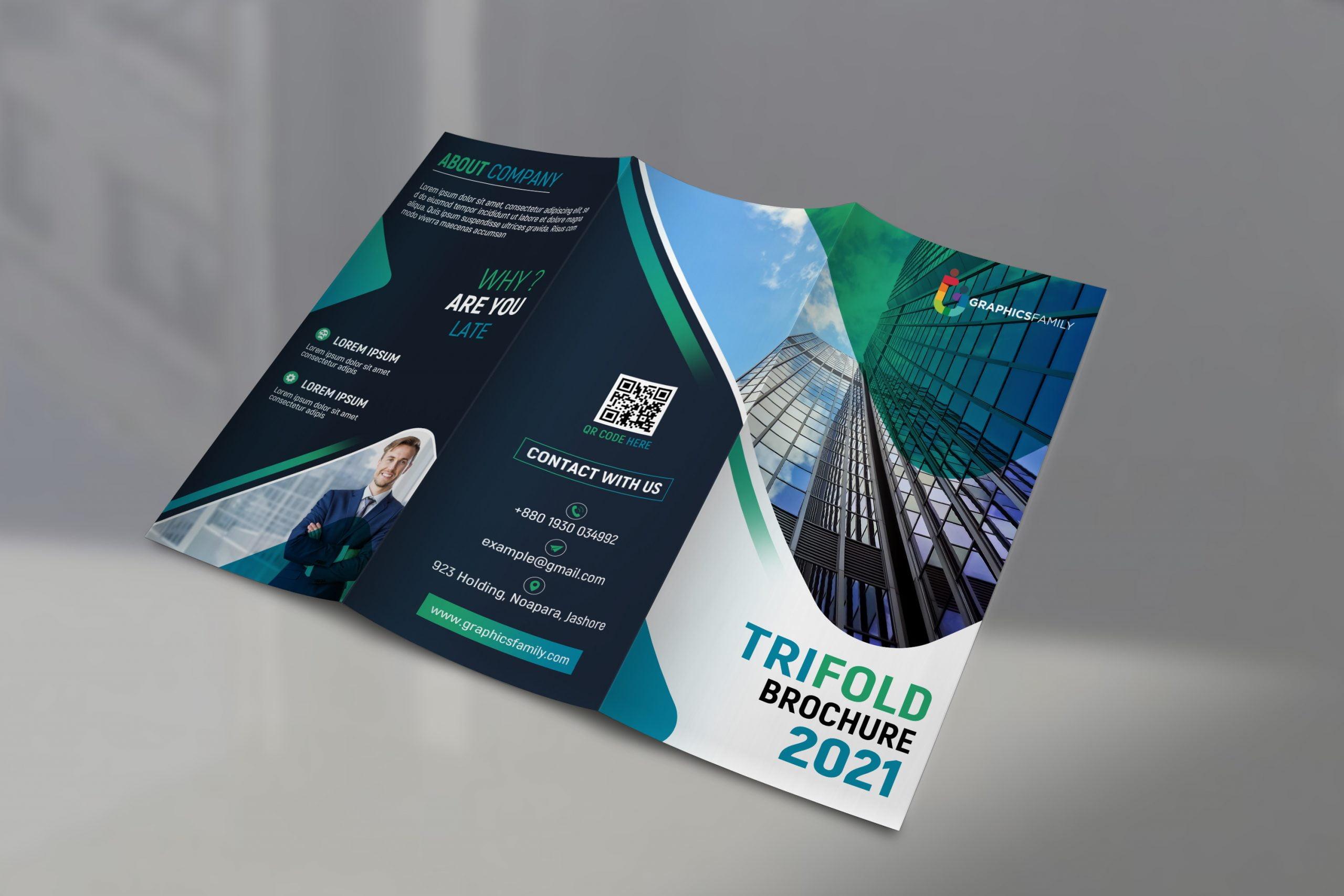 Editable Company Trifold Brochure Design Template