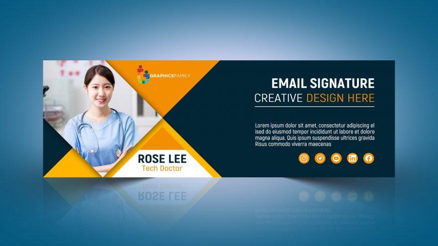 Editable Email Signature Design in Photoshop