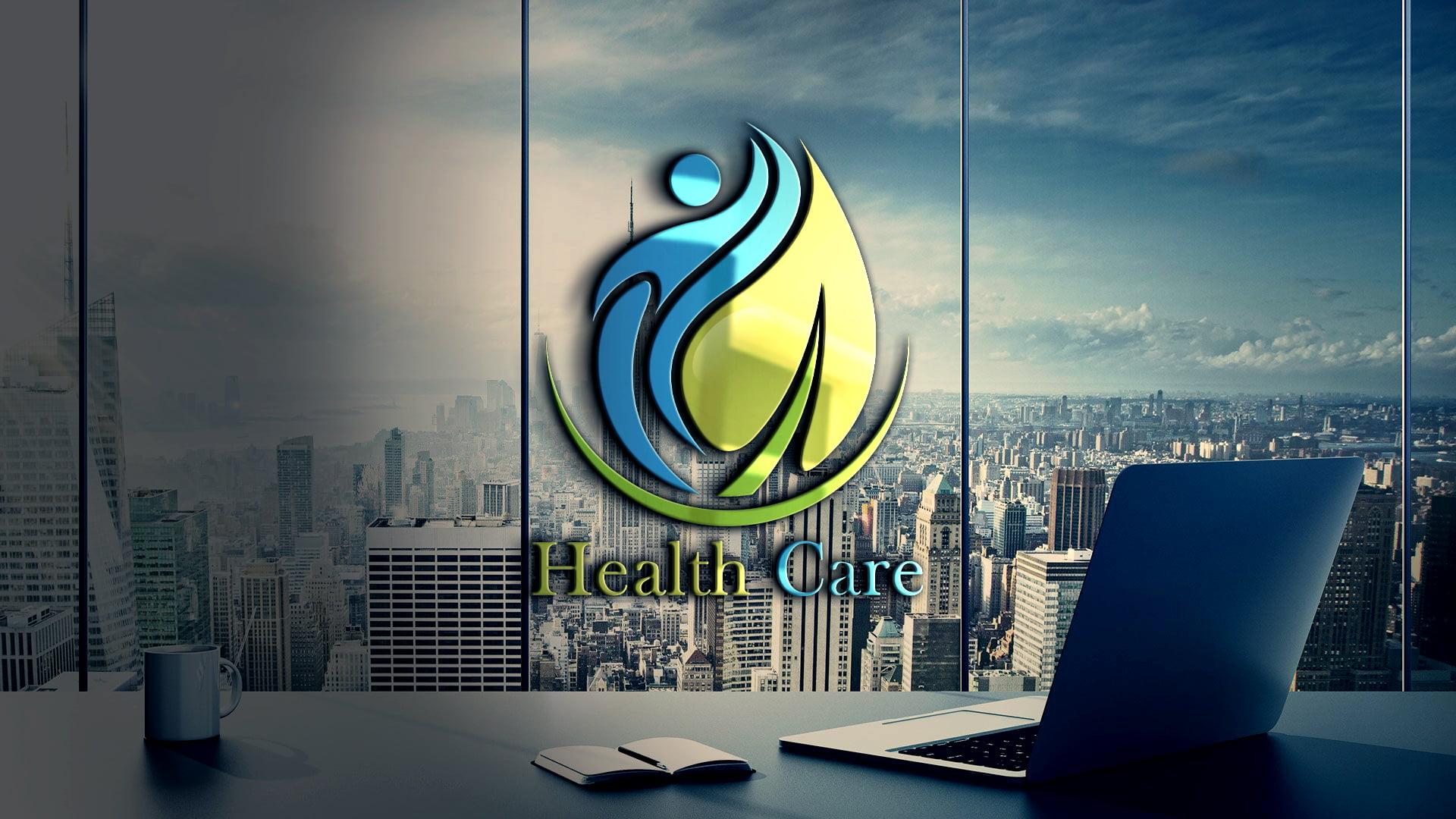 Editable Health Logo Design Template Free PSD