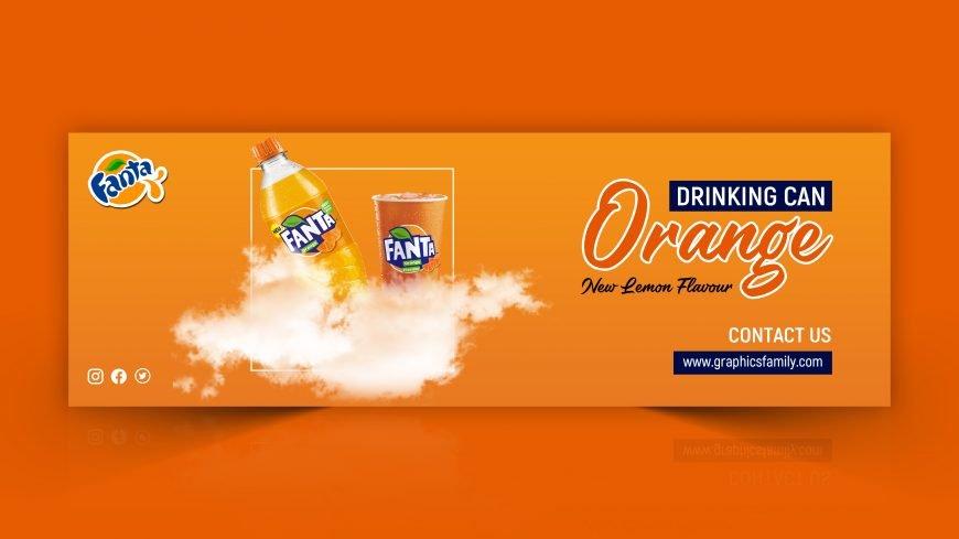 Editable Juice Advertising Banner