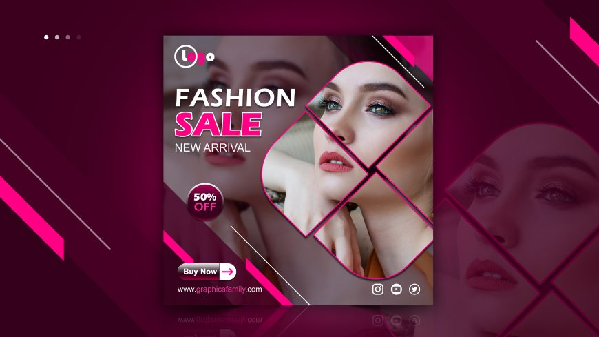 Fashion, Spa or Beauty Instagram Post Design