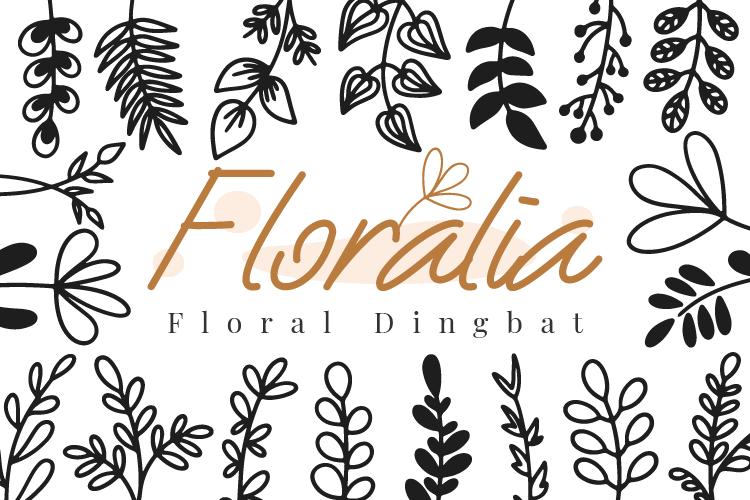 Floralia-Floral Dingbat Font
