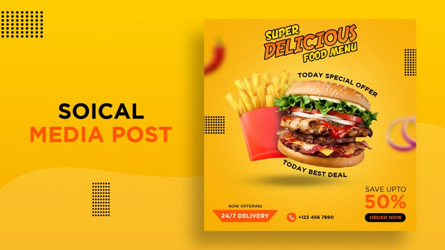 Food Offer Banner Design Template