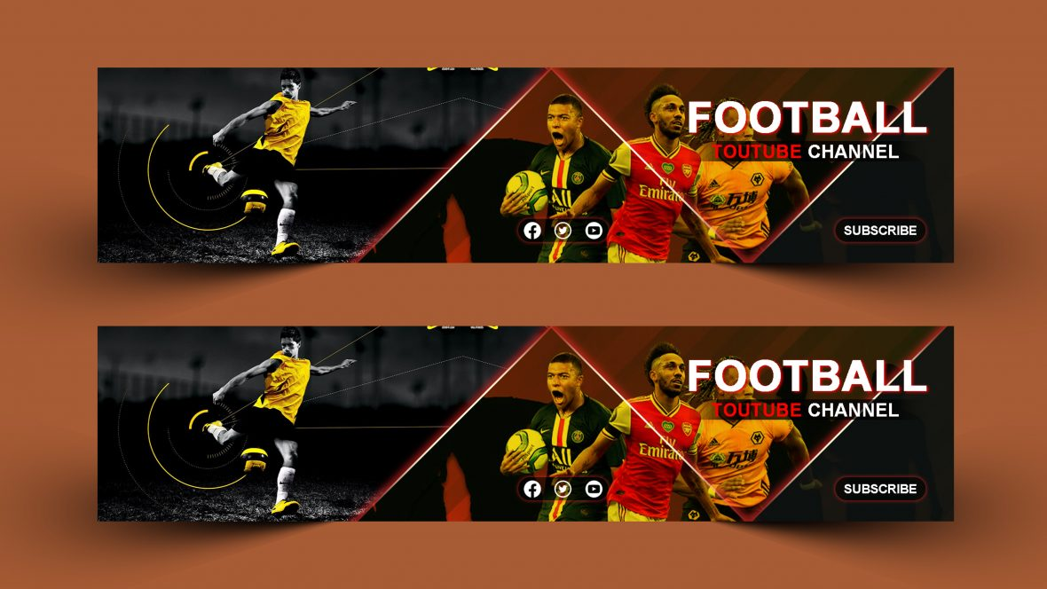 Football Youtube Channel Cover Design