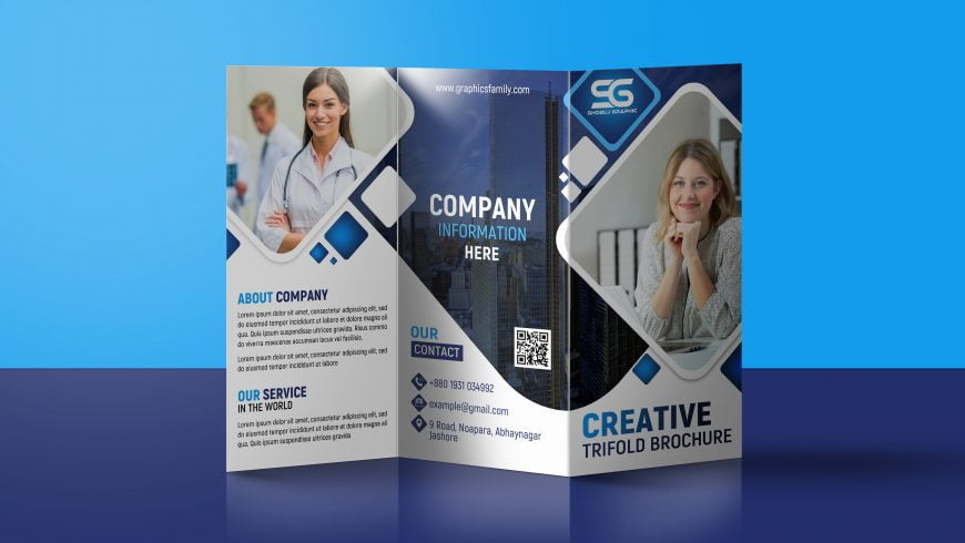 Free Company Promotion Trifold Brochure Design Template Download