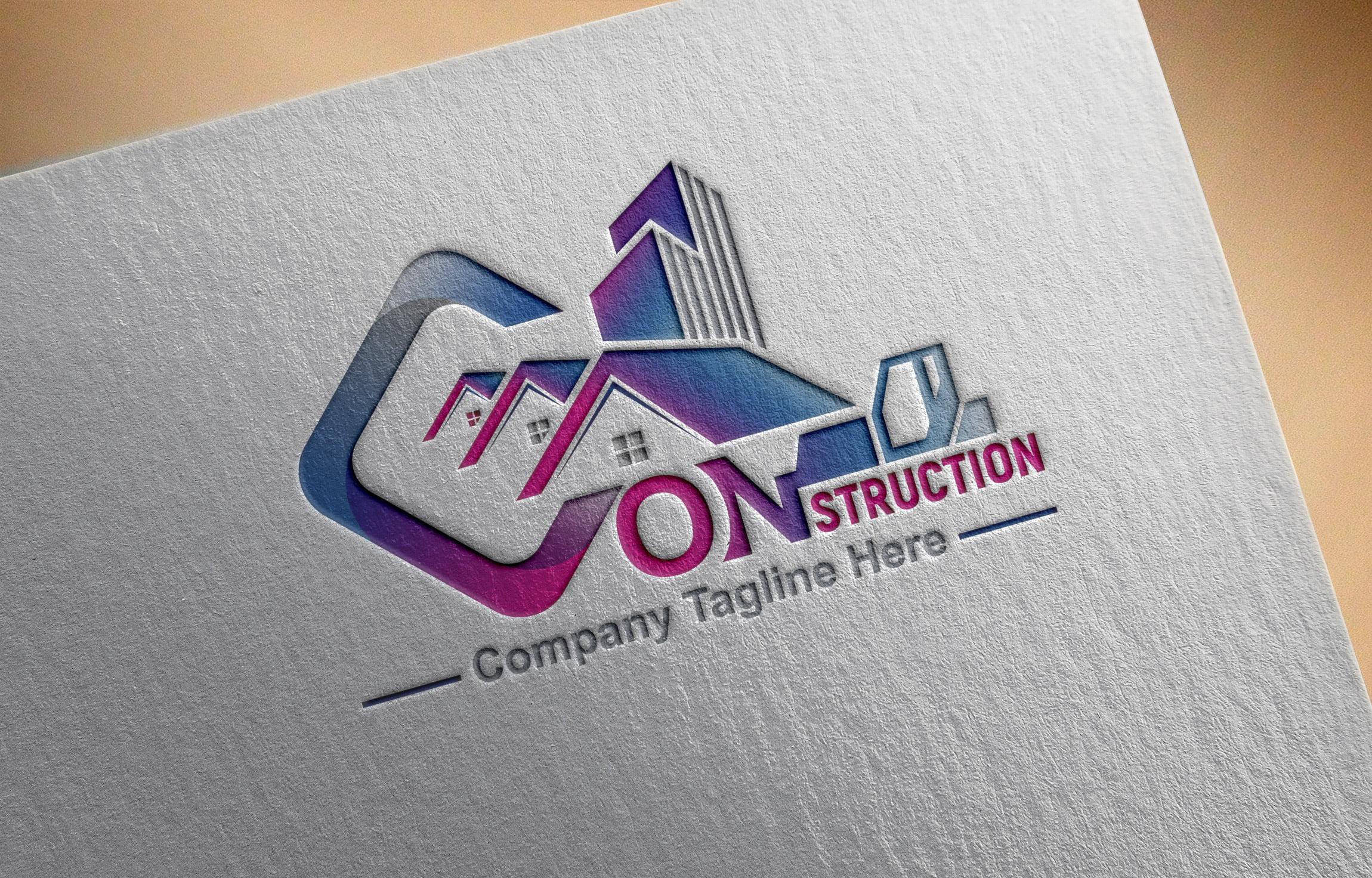 Free Construction Company, Contractor, Handyman Logo Template
