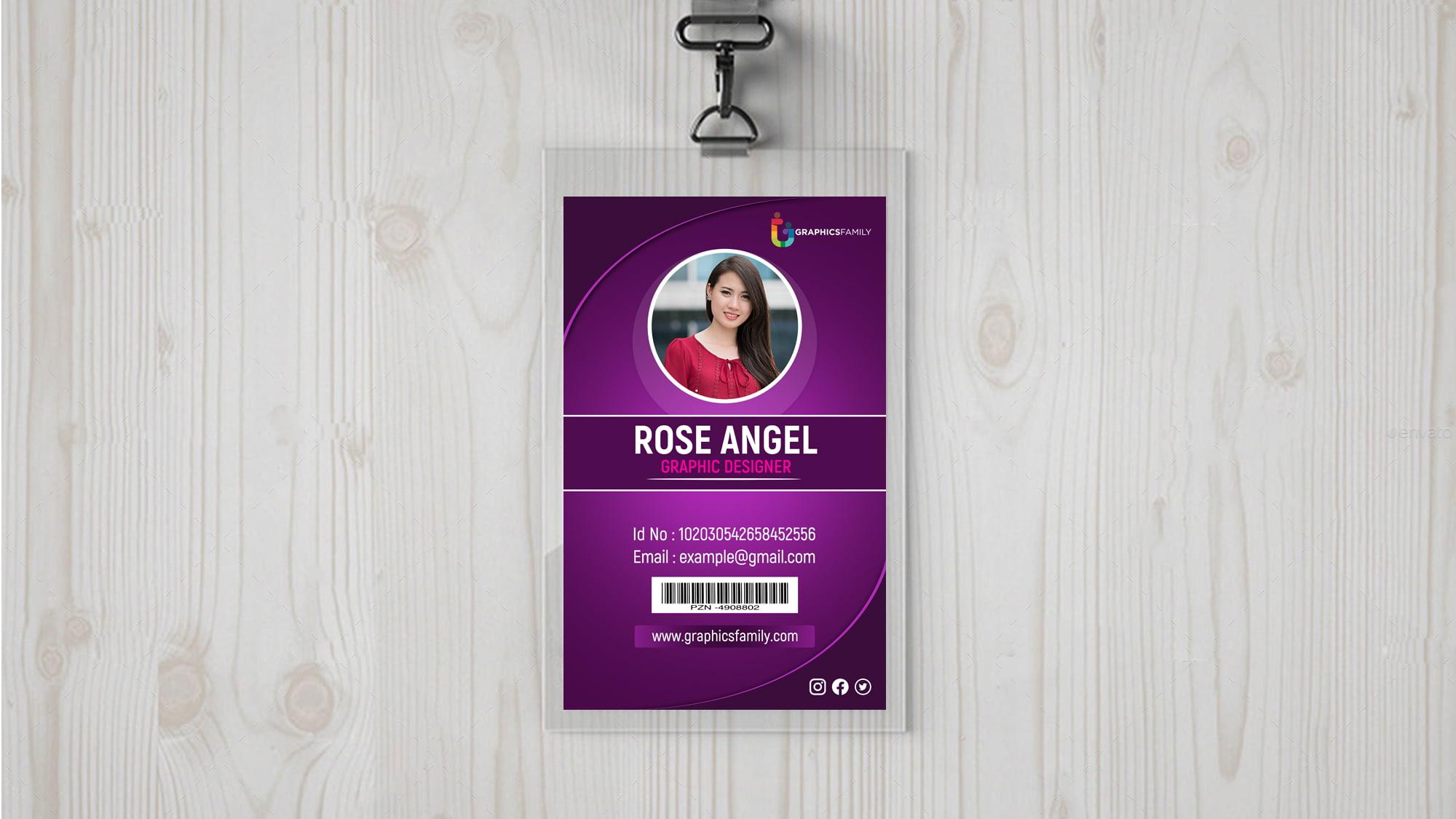 Free Download Employee Id Card Design
