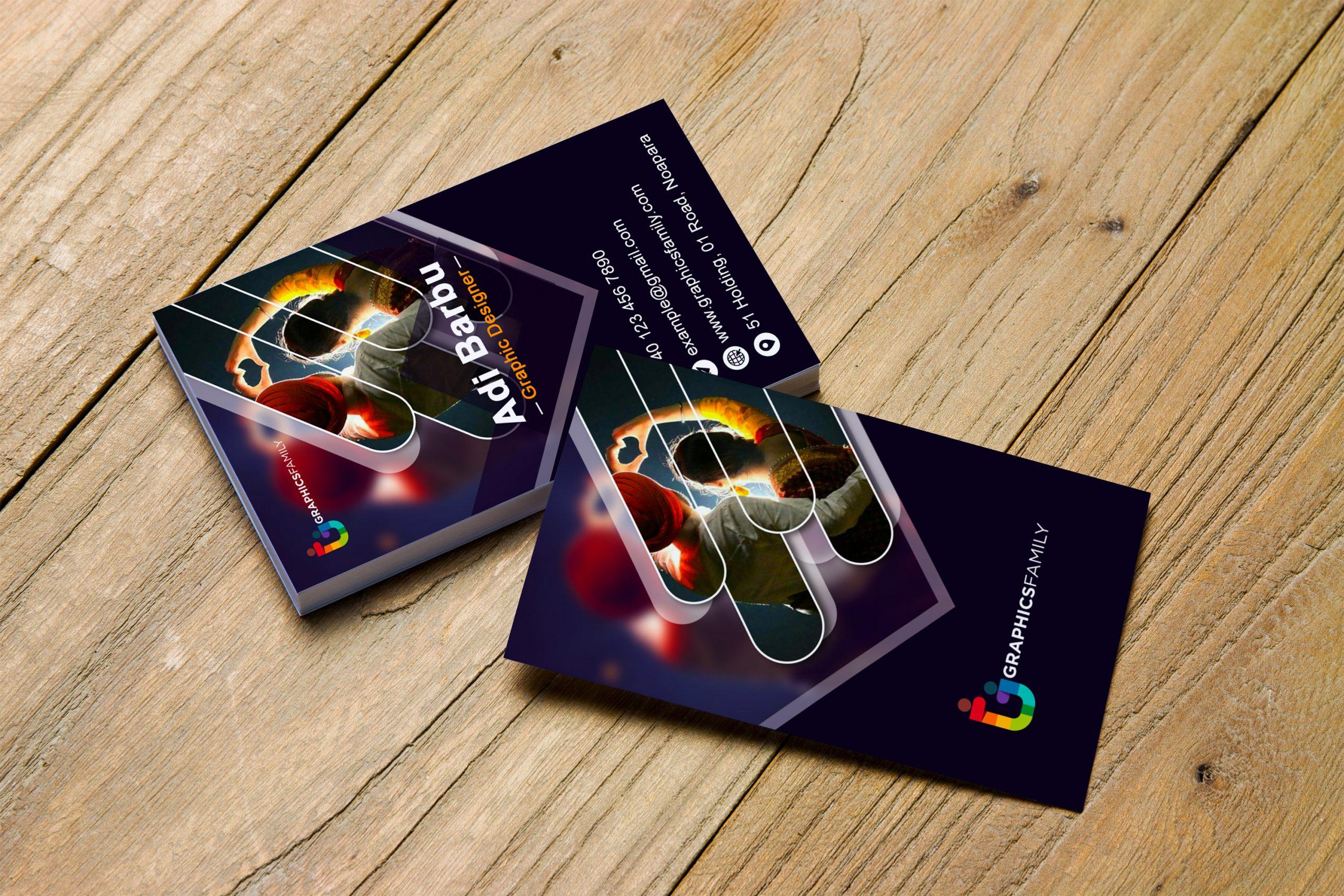 Free Download Modern Vertical Visiting Card Design