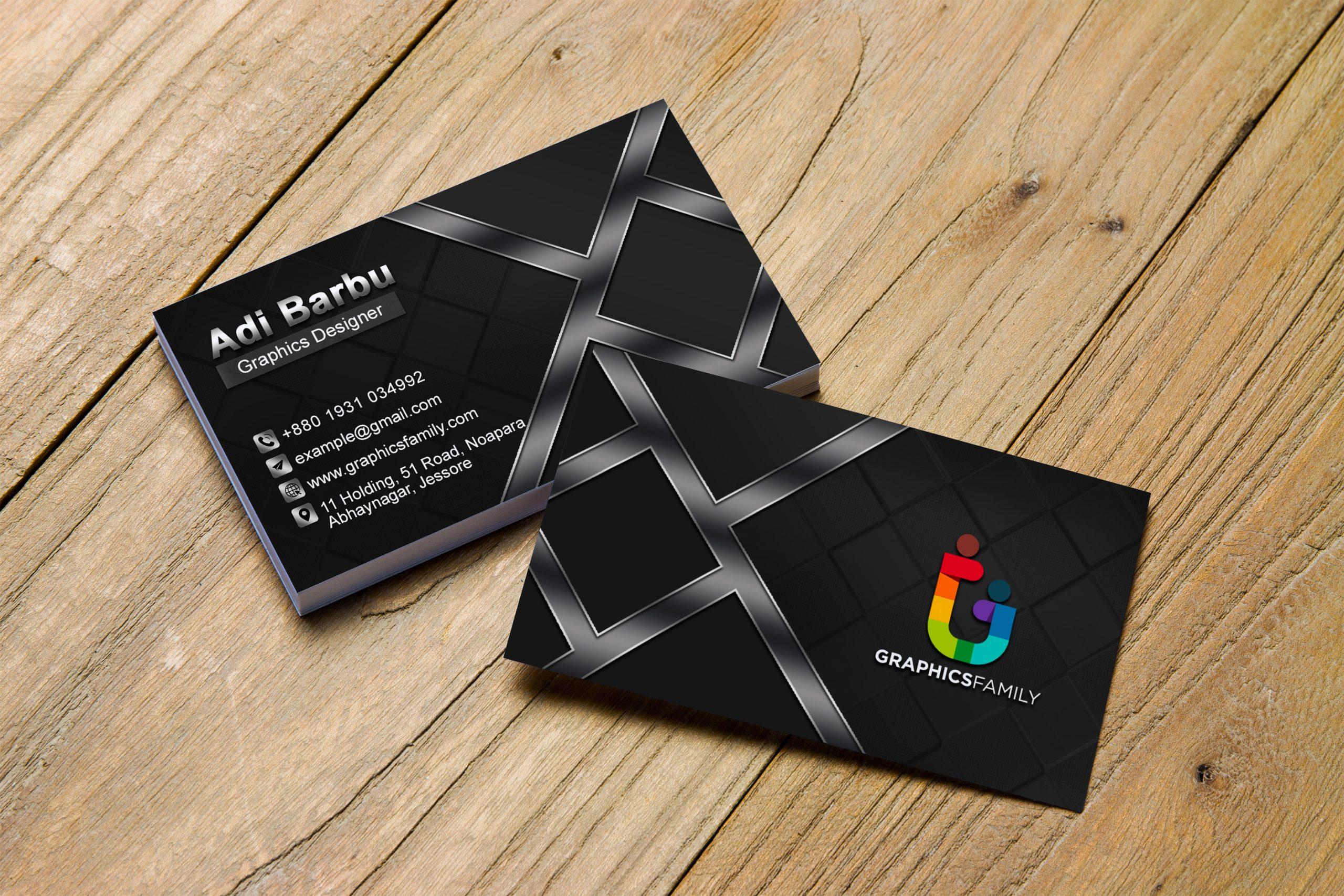 Free Download Professional Dark Business Card Design