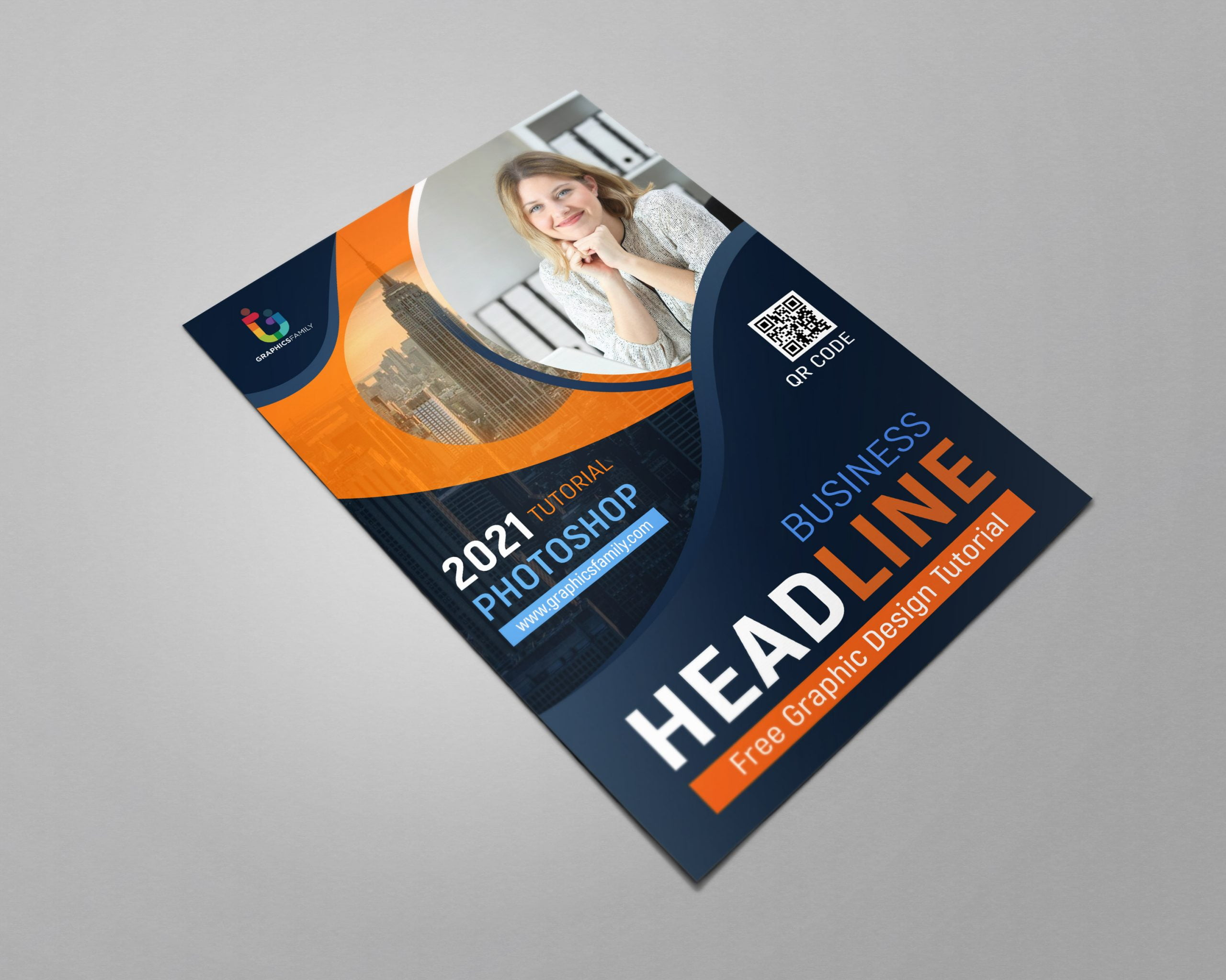 Free Download Simple A4 Flyer Design