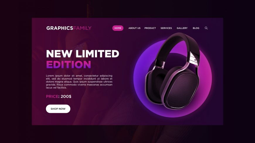 Free E-commerce Product UI Design in Photoshop