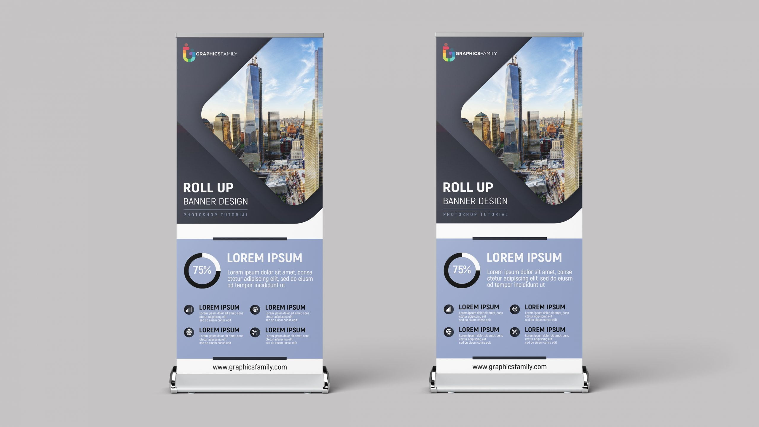 Free Editable Company Roll-up Banner Design