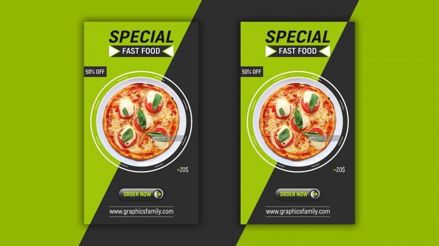 Free Editable Food Instagram Story Design