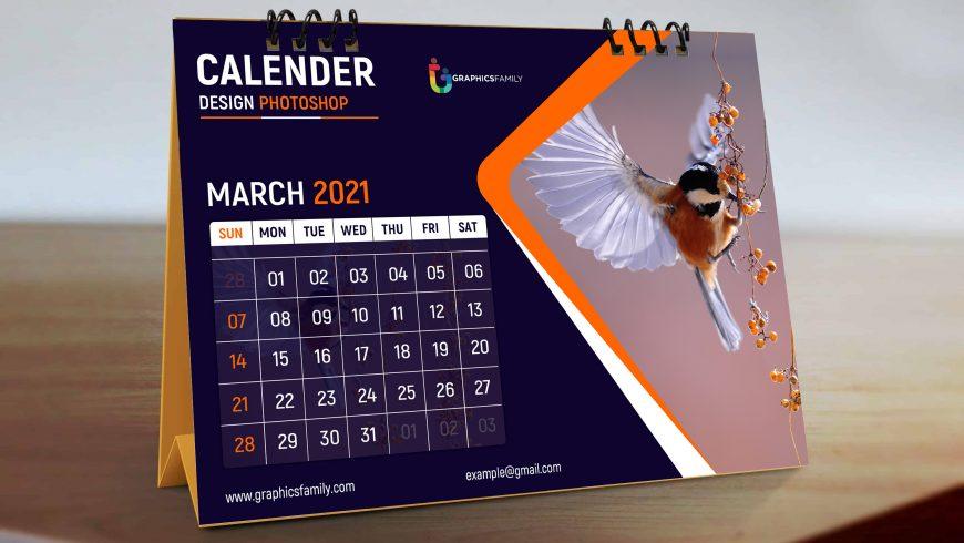 Free Editable Photoshop Calendar Design Template