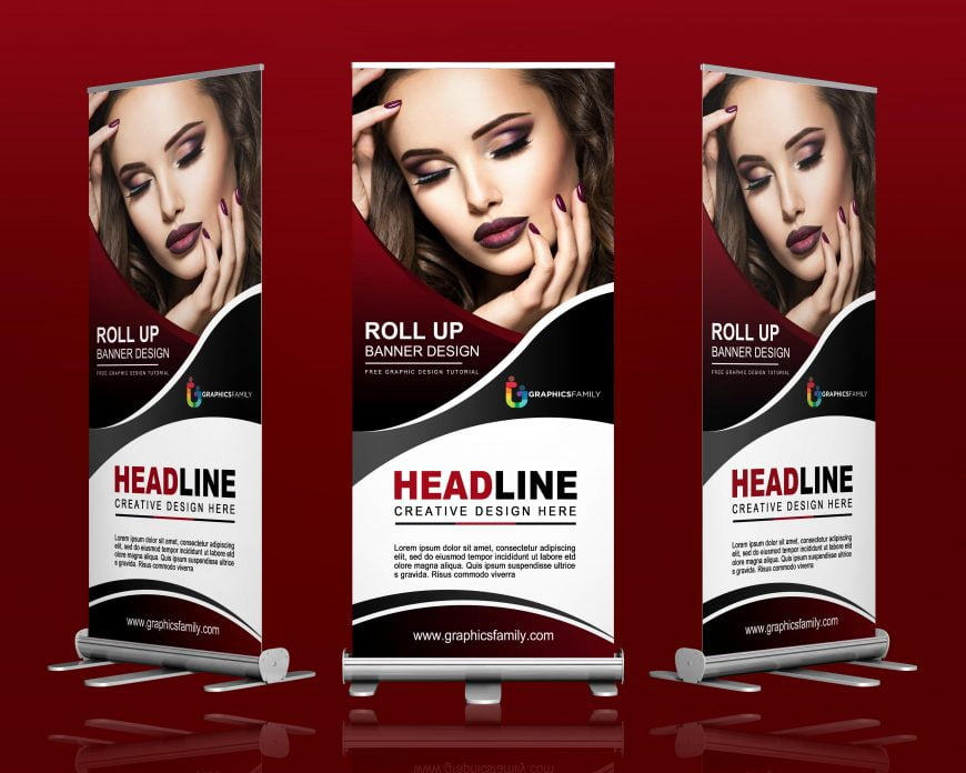 Free Fashion Show Roll-Up Banner Design