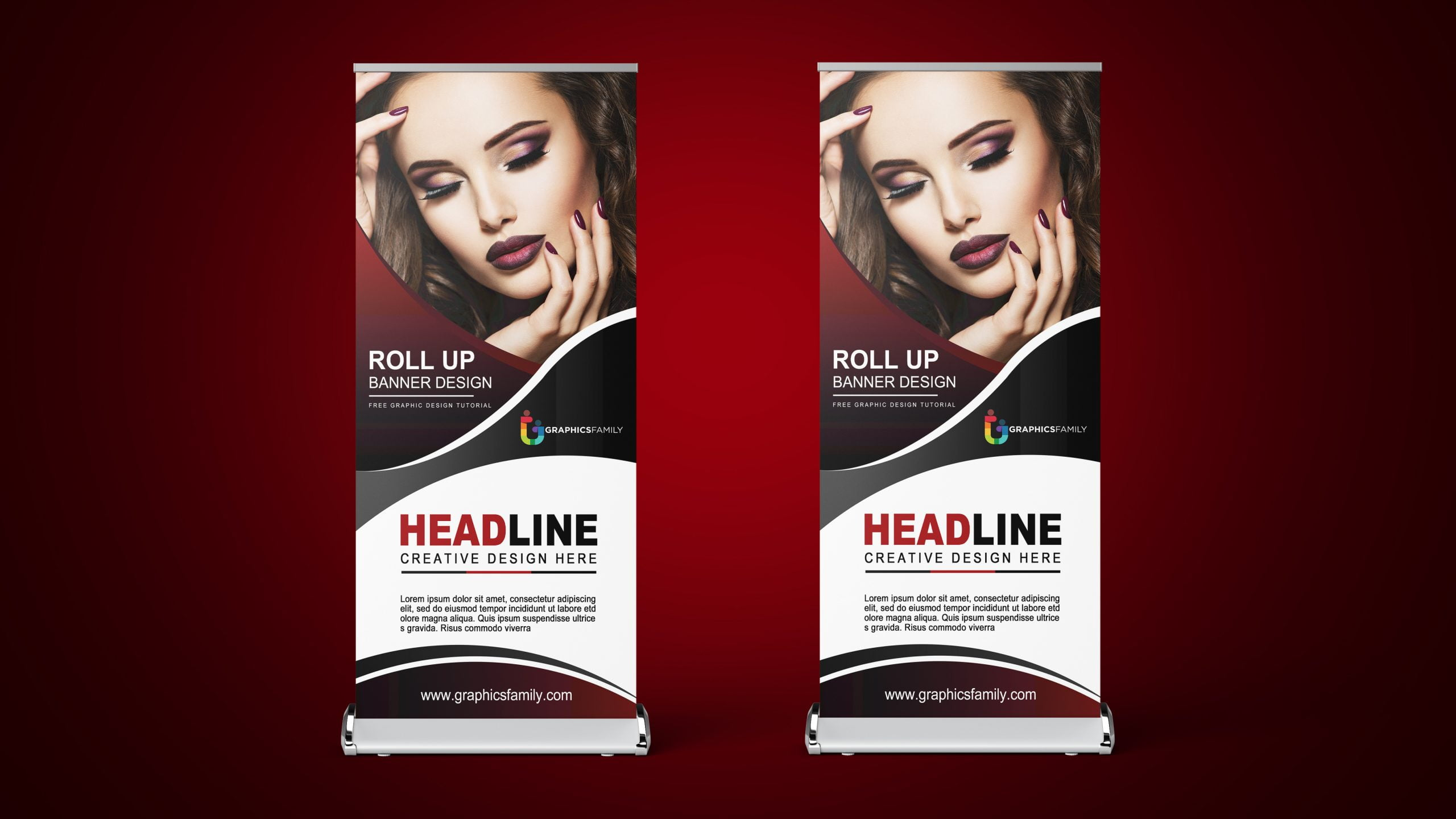 Free-Fashion-Show-Roll-Up-Banner-Design-Download