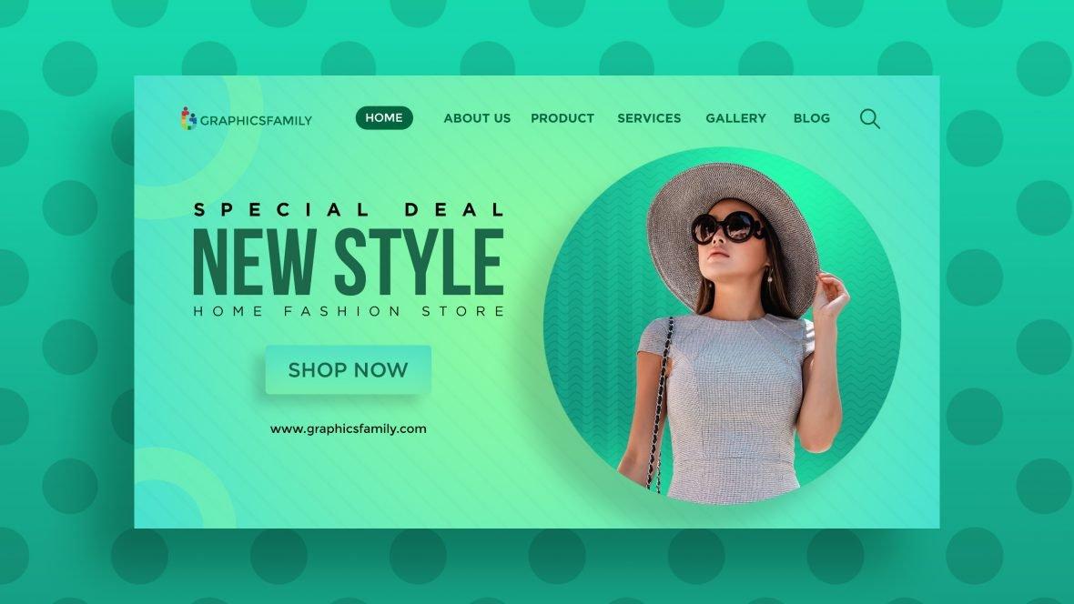 Free Fashion Website UI Design Template
