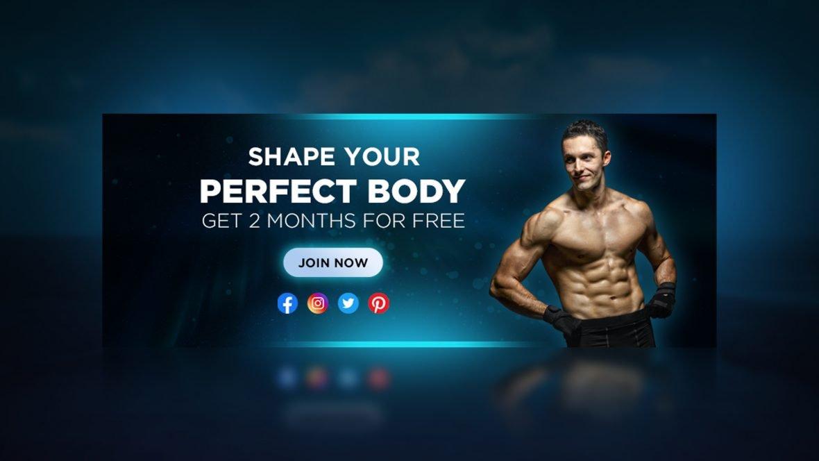 Free Fitness Advertising Banner Design Template