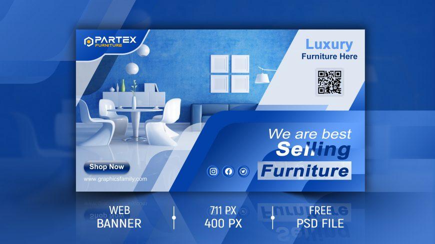 Free Furniture Web Banner Design