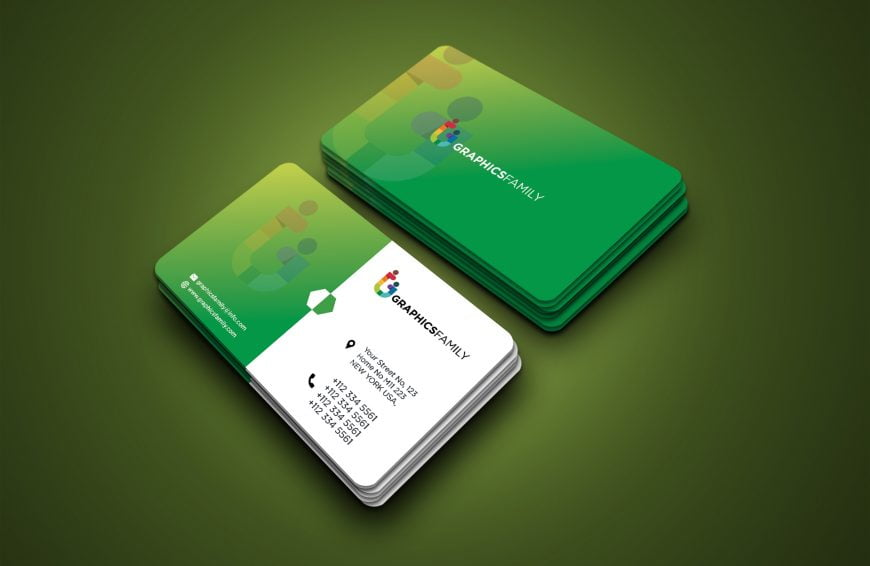 Free Green Visiting Card Template