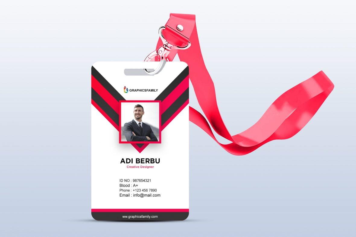 Free Id Card PSD Template