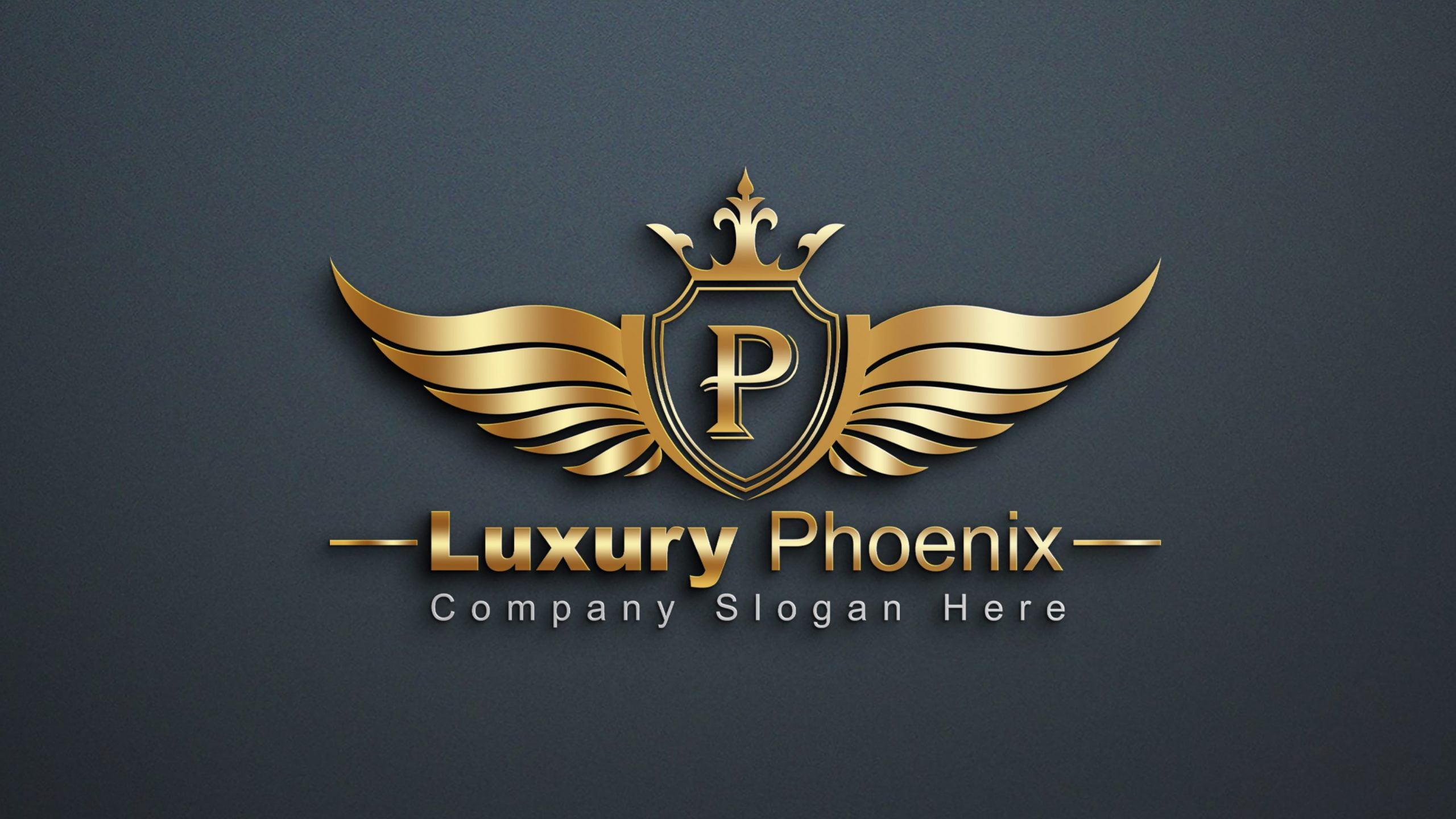 Free Luxury Phoenix Logo Template Design Download