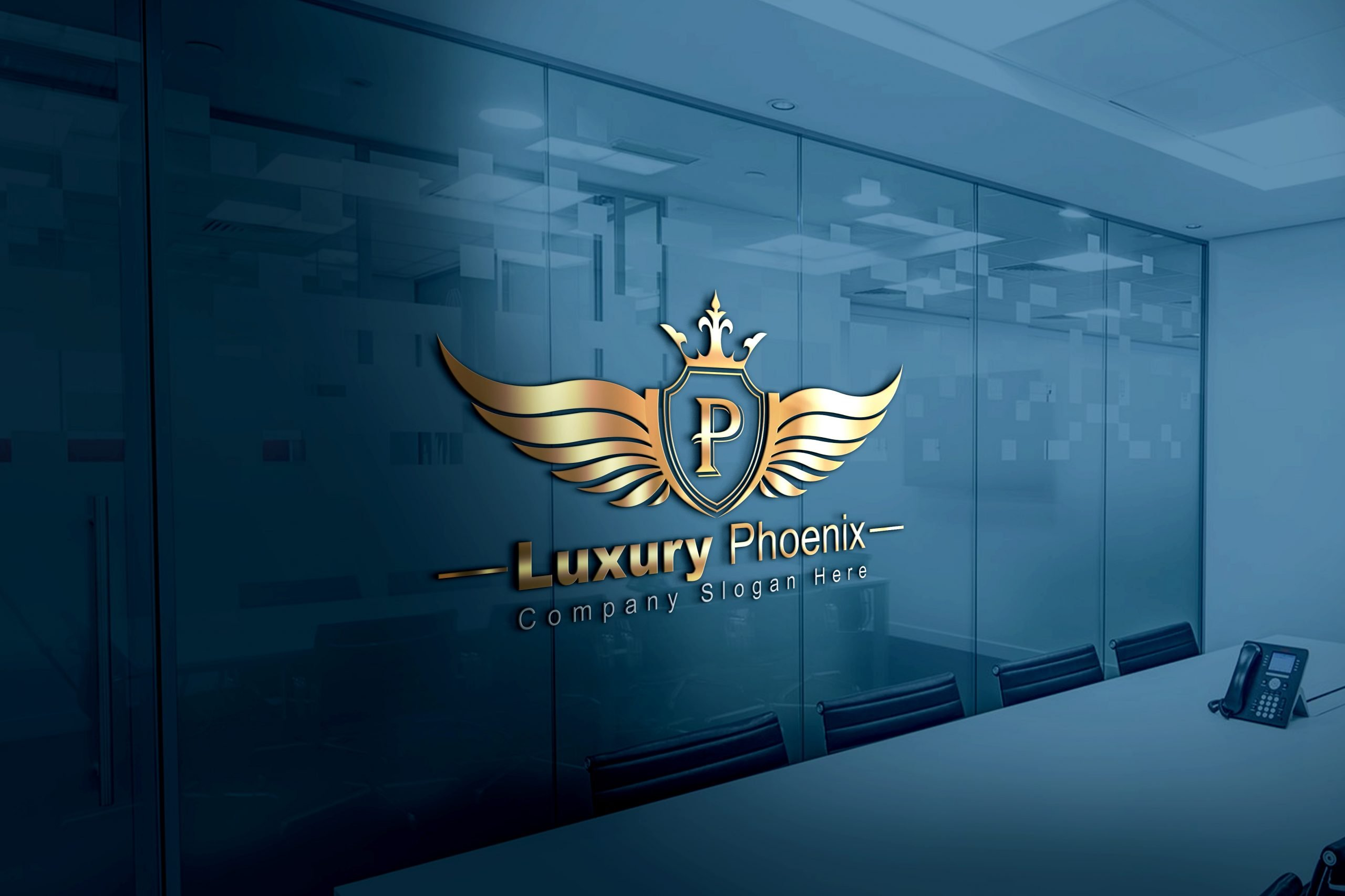 Free Luxury Phoenix Logo Template Design by GraphicsFamily
