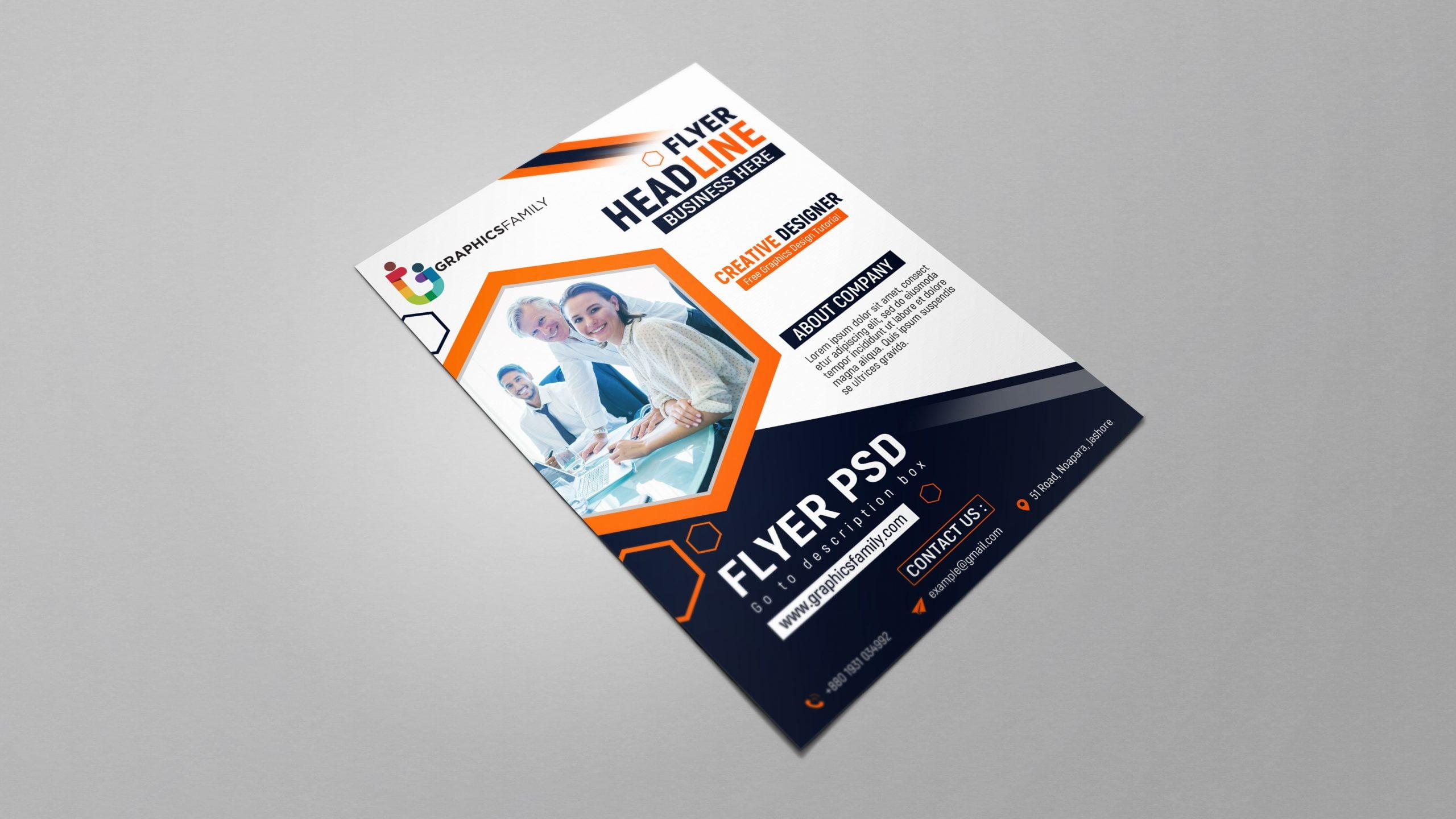 Free Modern Company Flyer Template