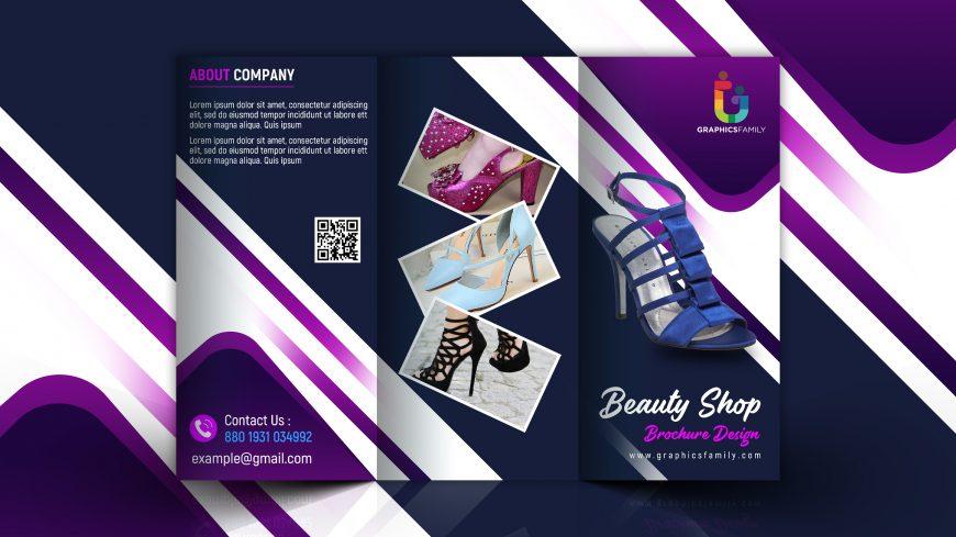 Free Photoshop Editable Marketing Trifold Brochure Design