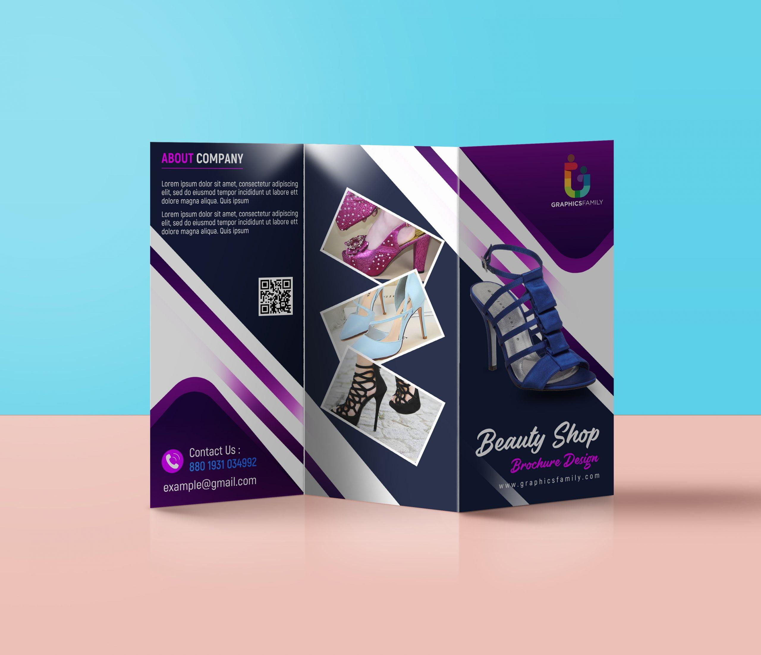 Free Photoshop Editable Trifold Brochure Design Download