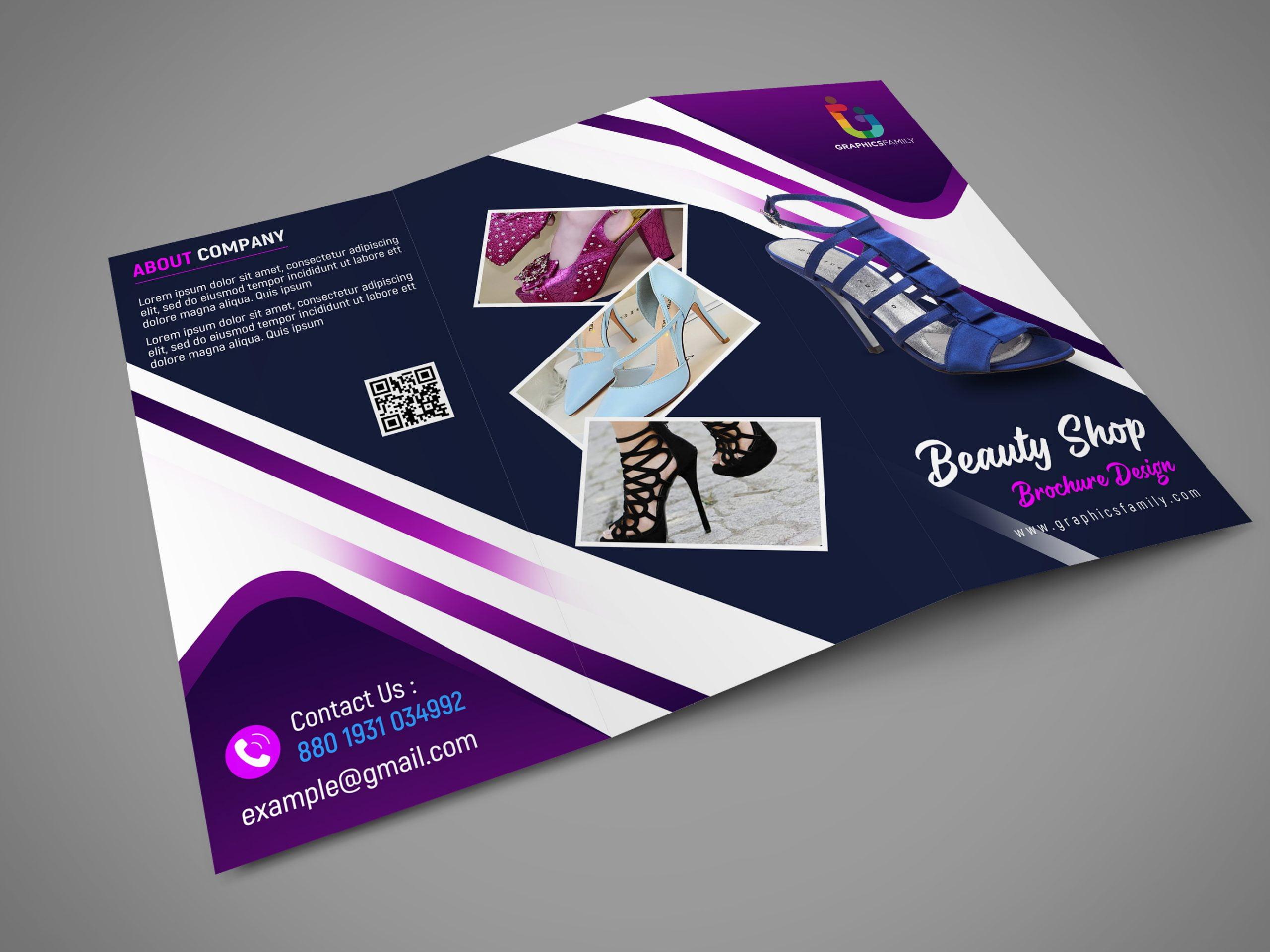 Free Photoshop Editable Trifold Brochure Design