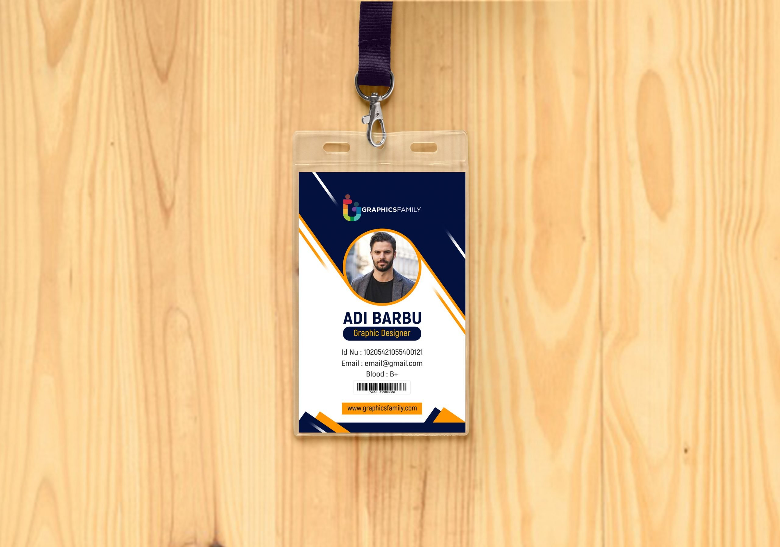 Free Professional Employee Photo ID Card