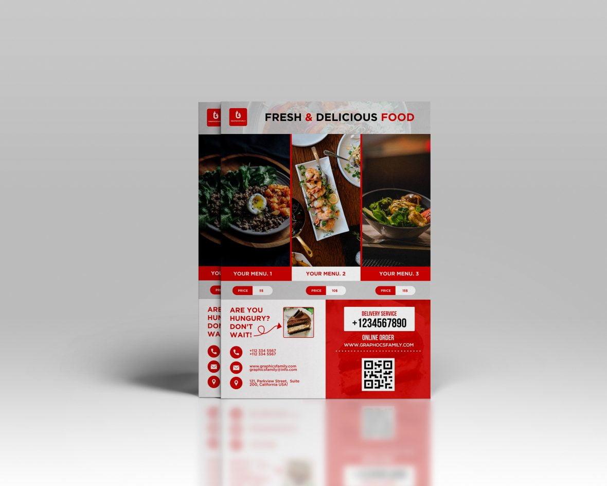 Free Restaurant PSD Flyer Design