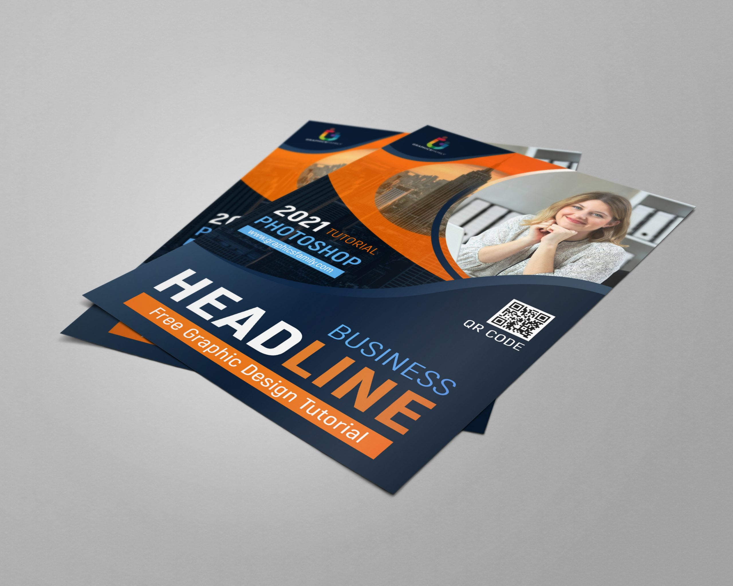 Free Simple A4 Flyer Design Download .PSD