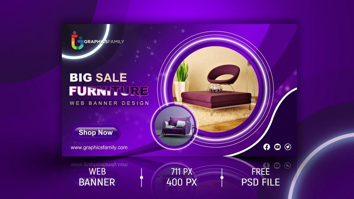 Furniture Promotional Banner Template Design