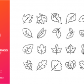 Leaf and Grass Icon Set