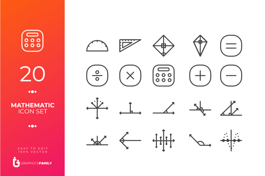 Mathematic Icon Set
