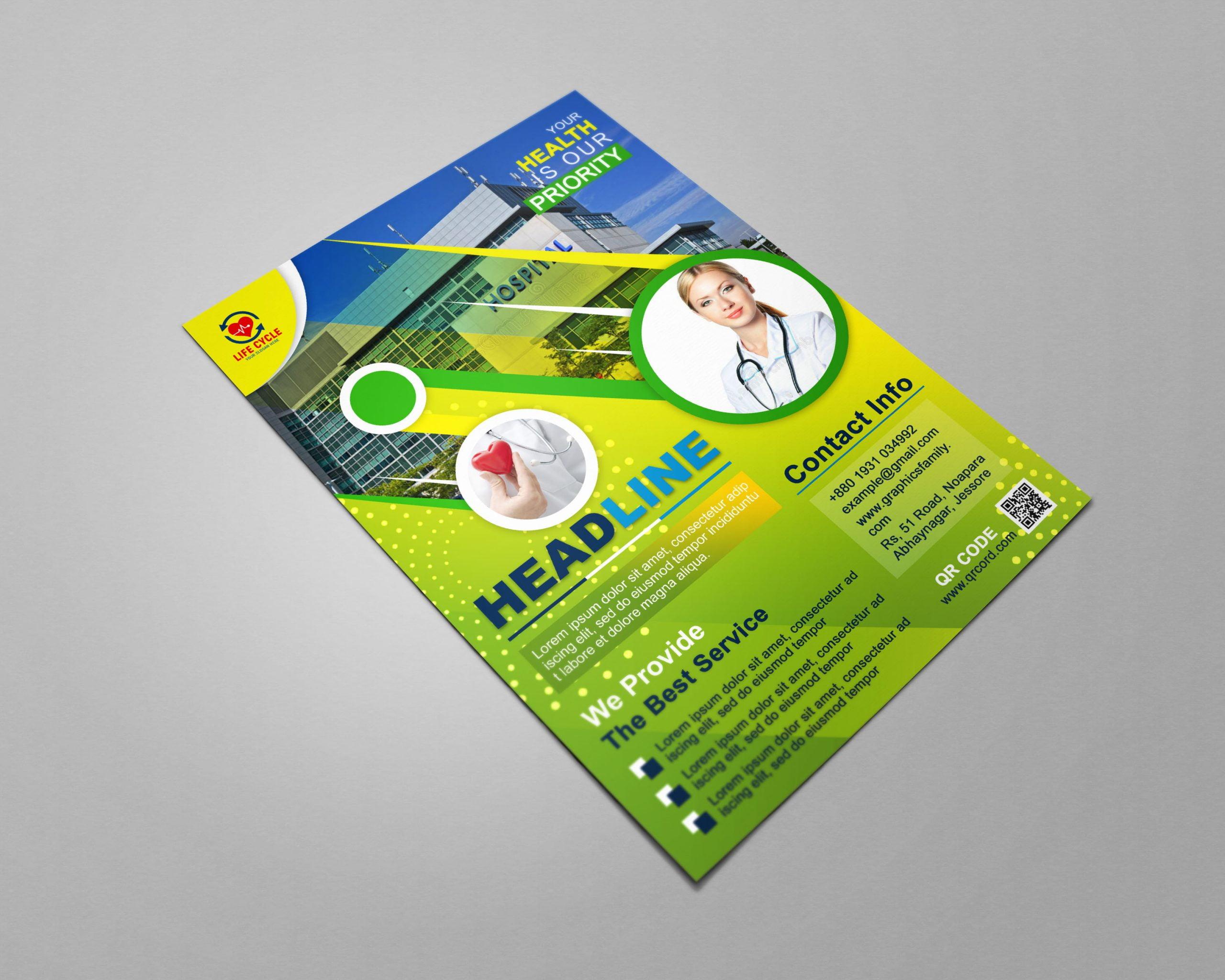 Medical A4 Flyer Design Download