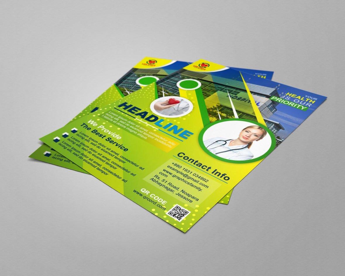 Medical A4 Flyer Design Source