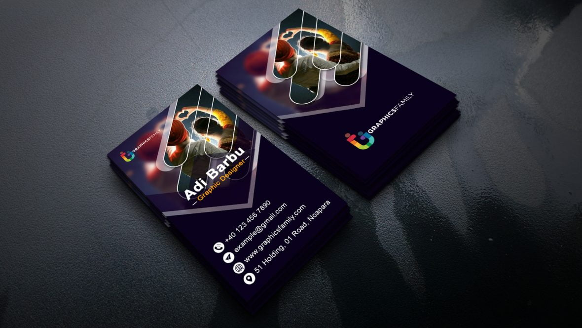 Modern Vertical Visiting Card Design
