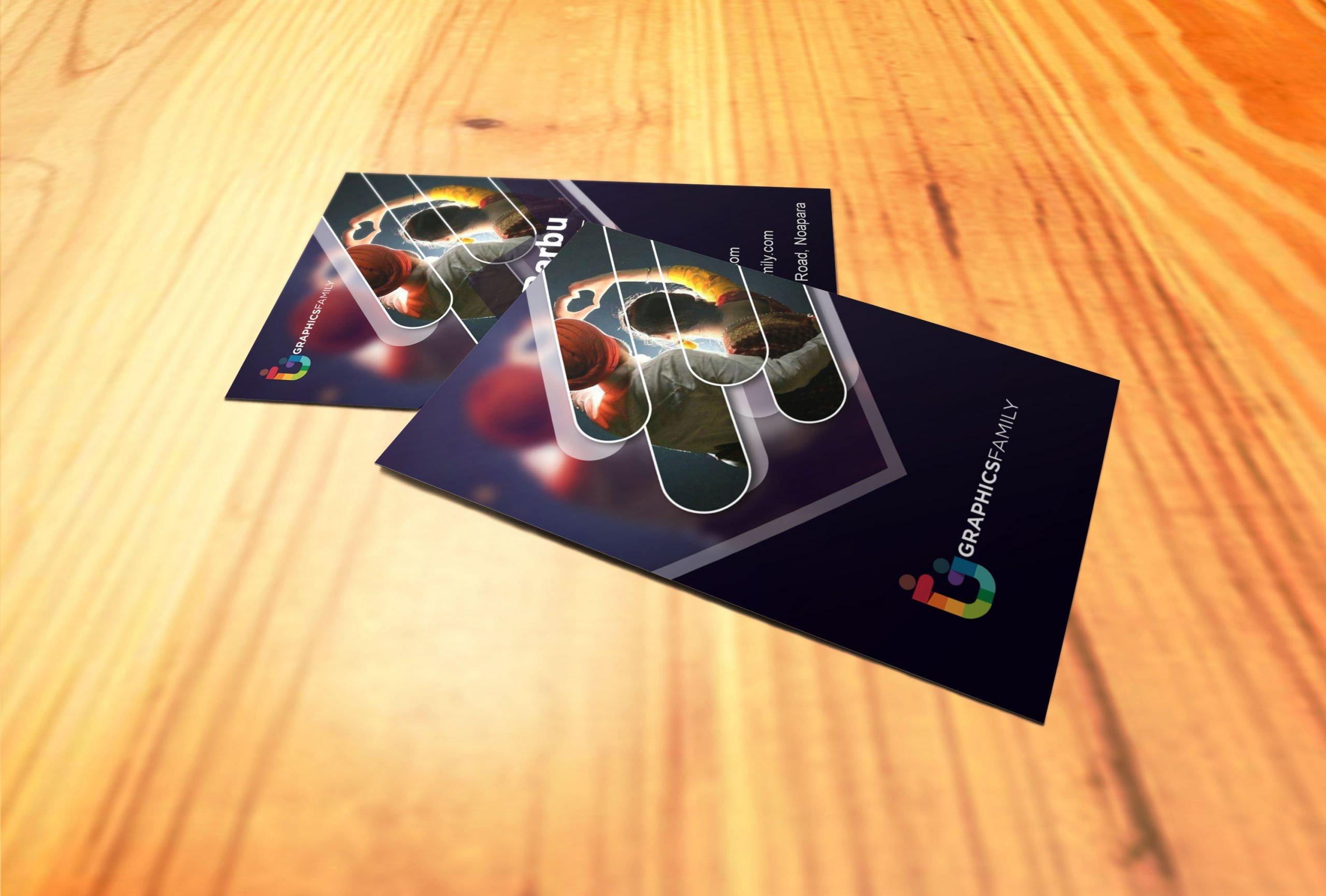 Modern Vertical Visiting Card Design Download