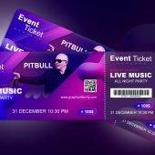Music Concert Event Ticket Design