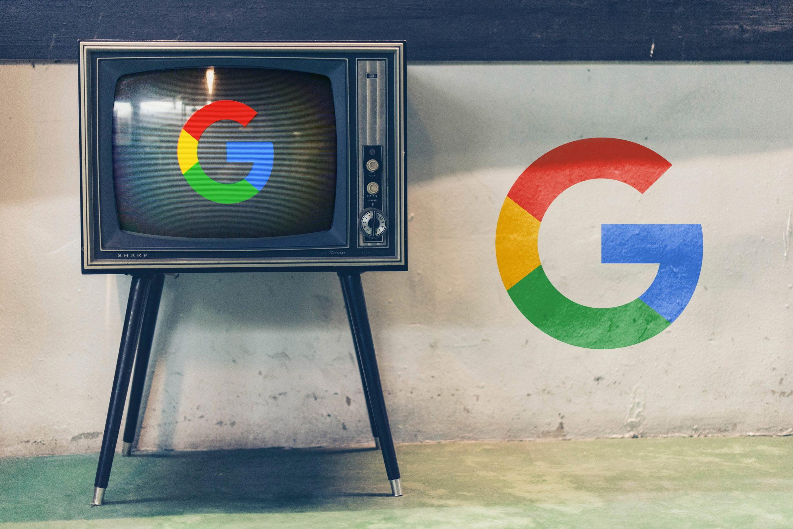Old TV Glitch Logo Mockup Download