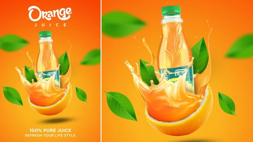Orange Juice A4 Poster Design Template