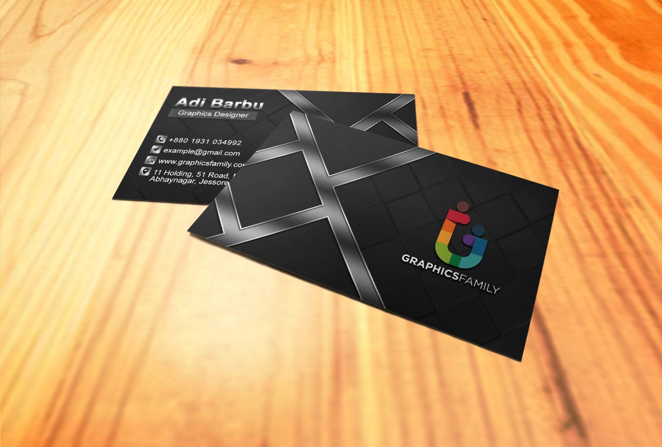 Professional Dark Business Card Design Download